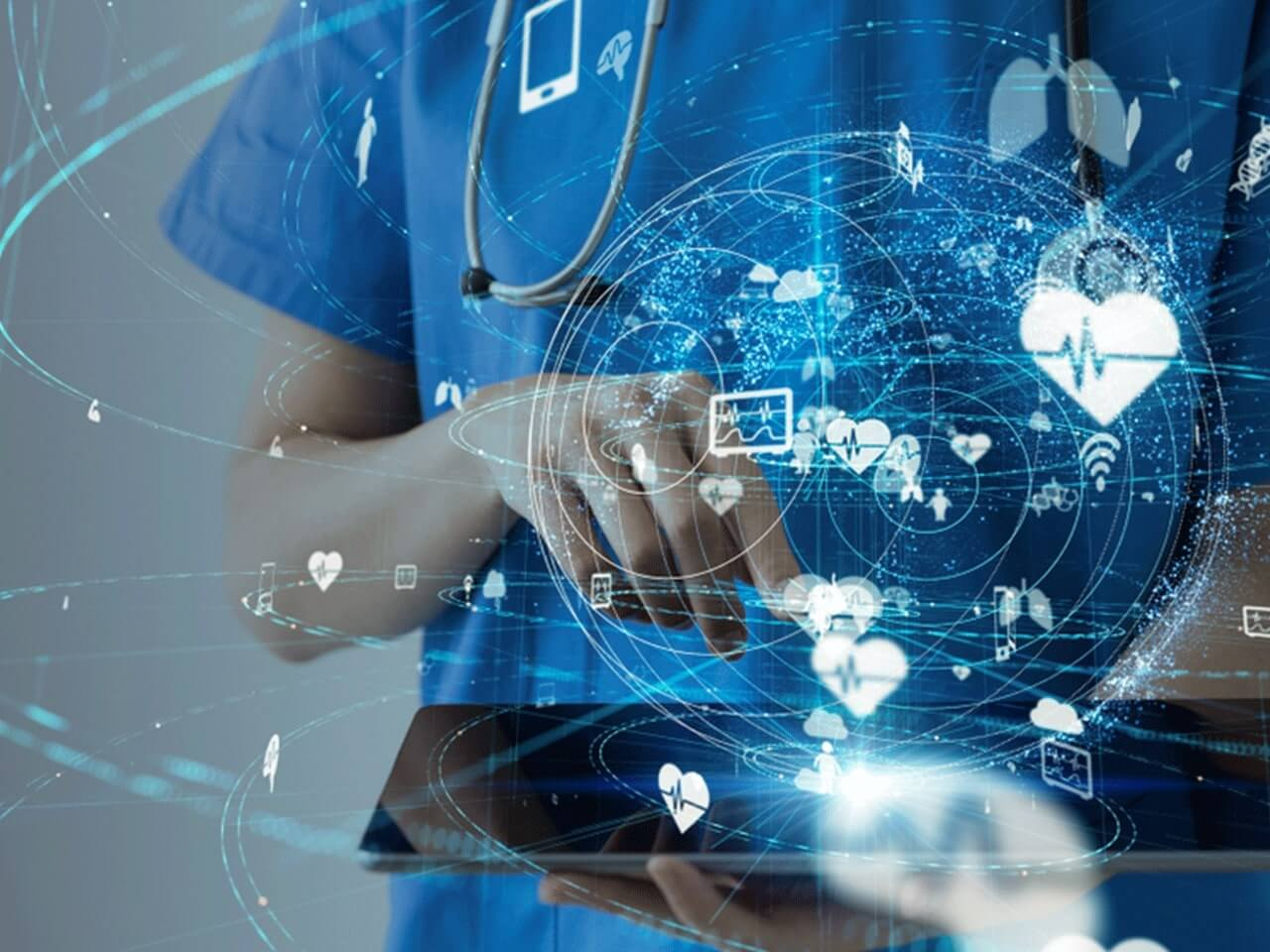 Healthcare tech solutions including patient care, medical practice management, streamlined processes and EHR systems.